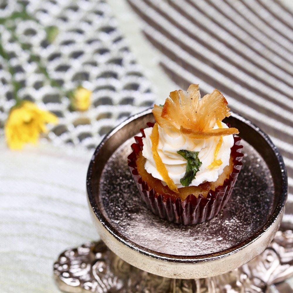 Mini Pineapple Rum Cupcake
