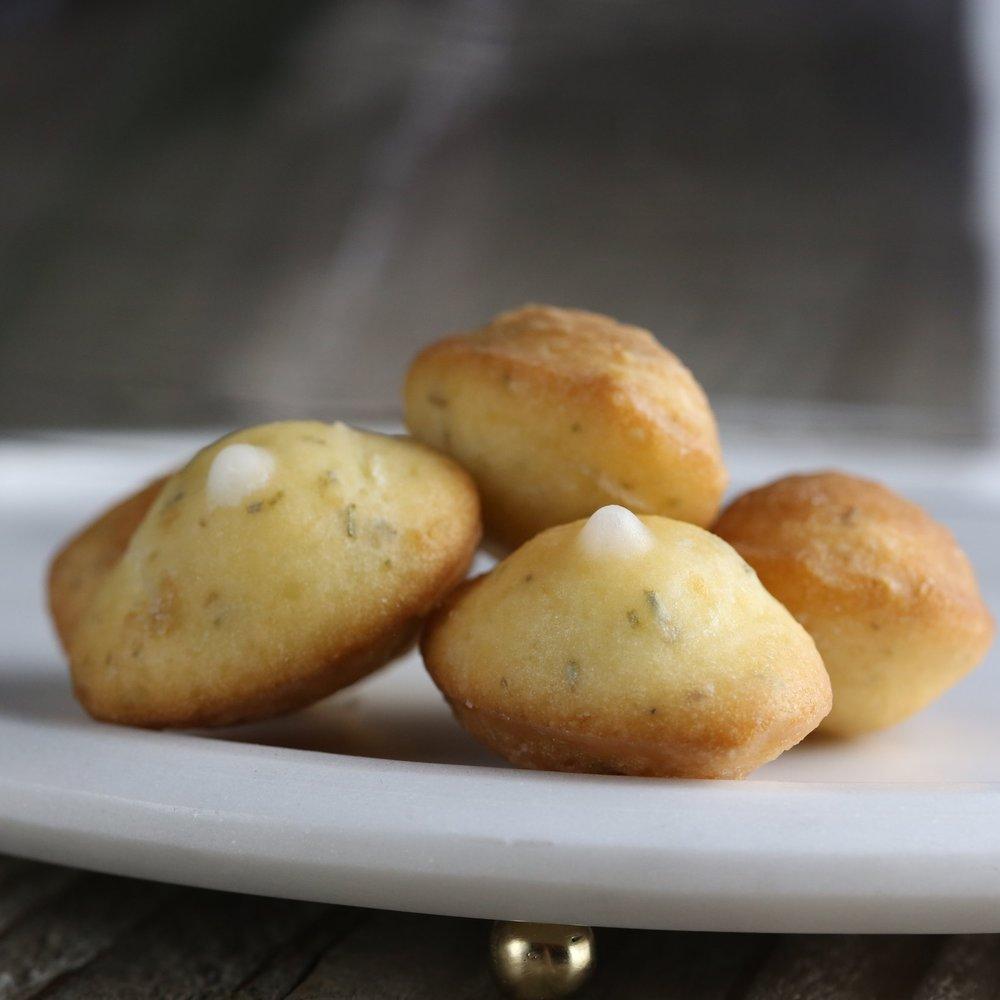 Mini Rosemary Lemon Madeleines
