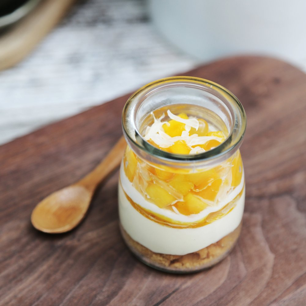 Mango Pomelo Cheesecake Jar, $38