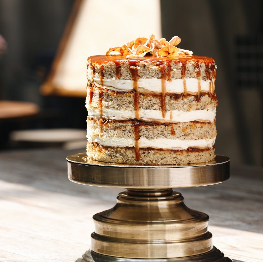 Banoffee Cake, $55 / slice, $108+ / cake