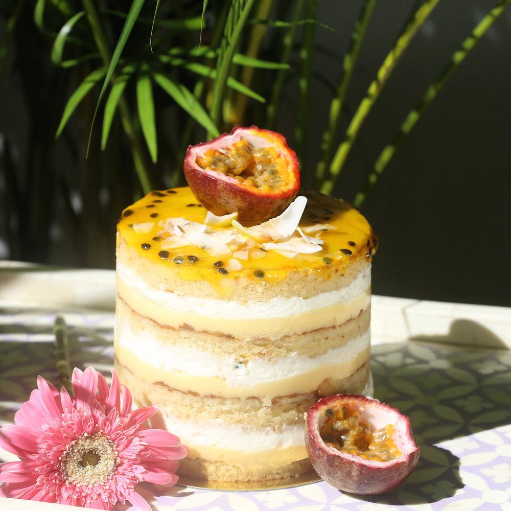 Passion Colada Cake