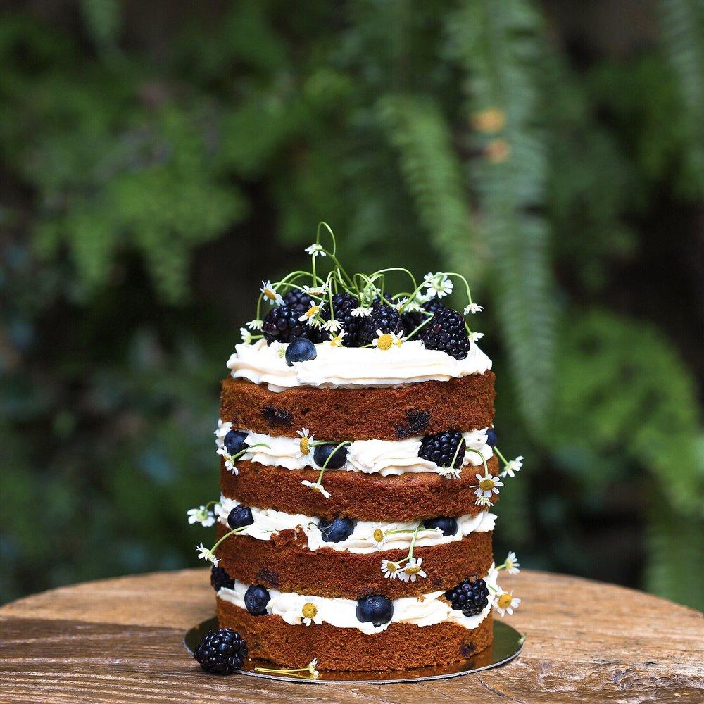 Blueberry Chamomile Cake,$55 / slice, $108+ / cake