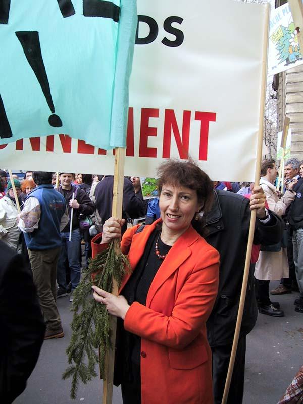 24 mars 2000, Yolande, lors d'une manifestation à Paris