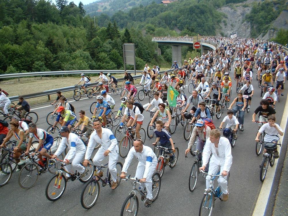 29 mai 2003, montée du viaduc à vélo de l'ARSMB
