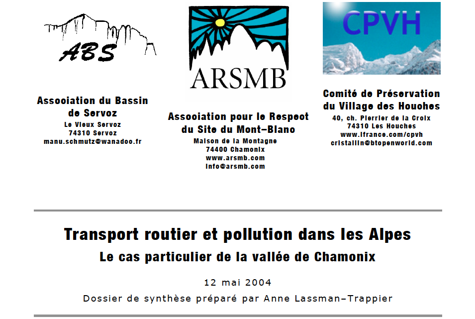2004, dossier transports et pollution de l'air