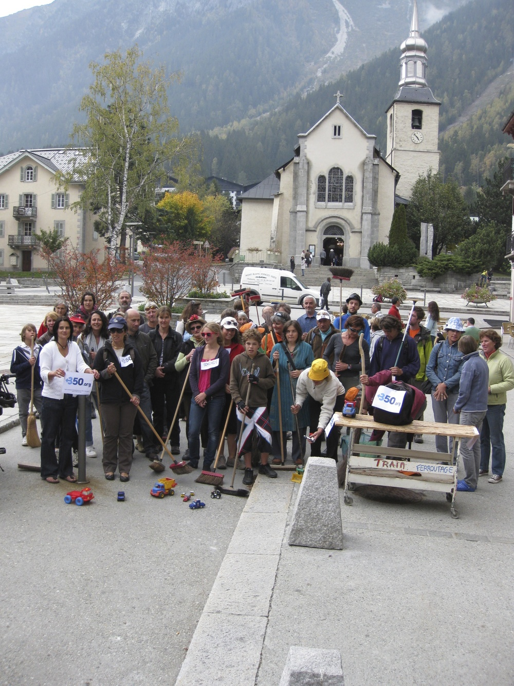 10 octobre 2010, Flash Mob, Chamonix
