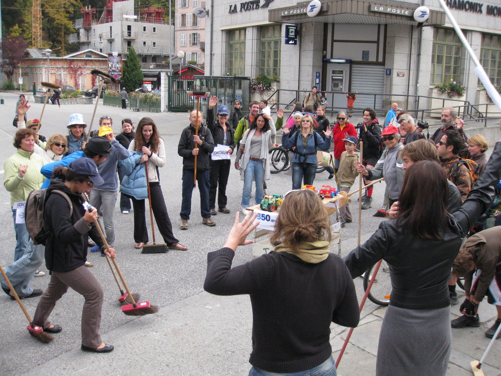 10 octobre 2010, Freeze Flash Mob, Chamonix