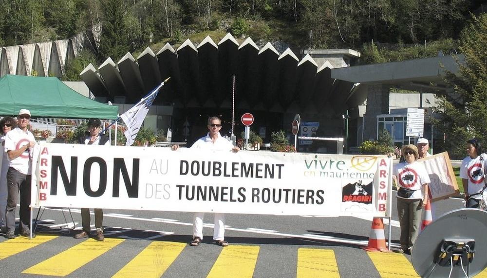 15 septembre 2012, action lors des 50 ans du percement du tunnel du Mont-Blanc