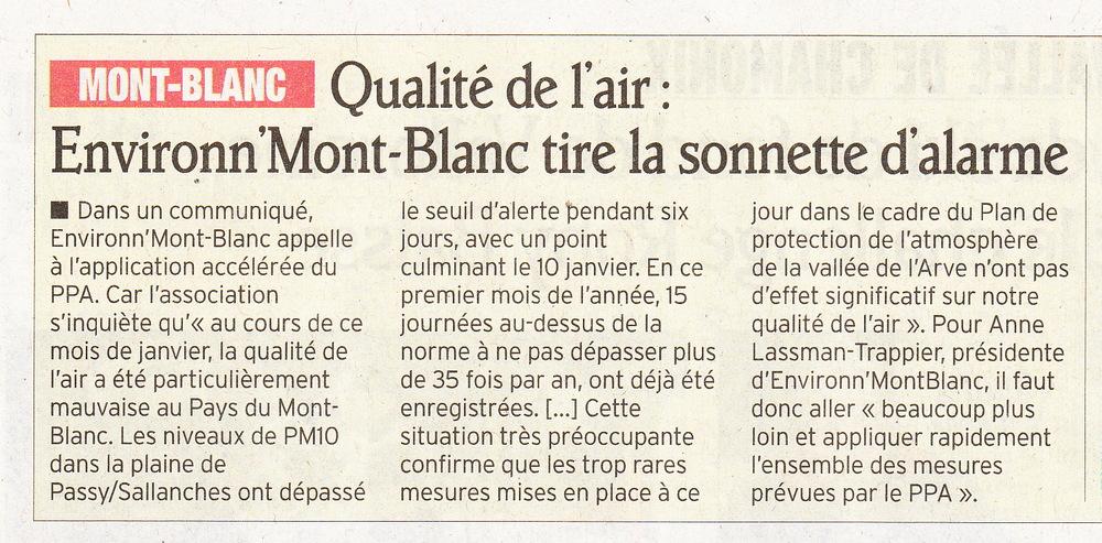 4 février 2013, Le Dauphiné