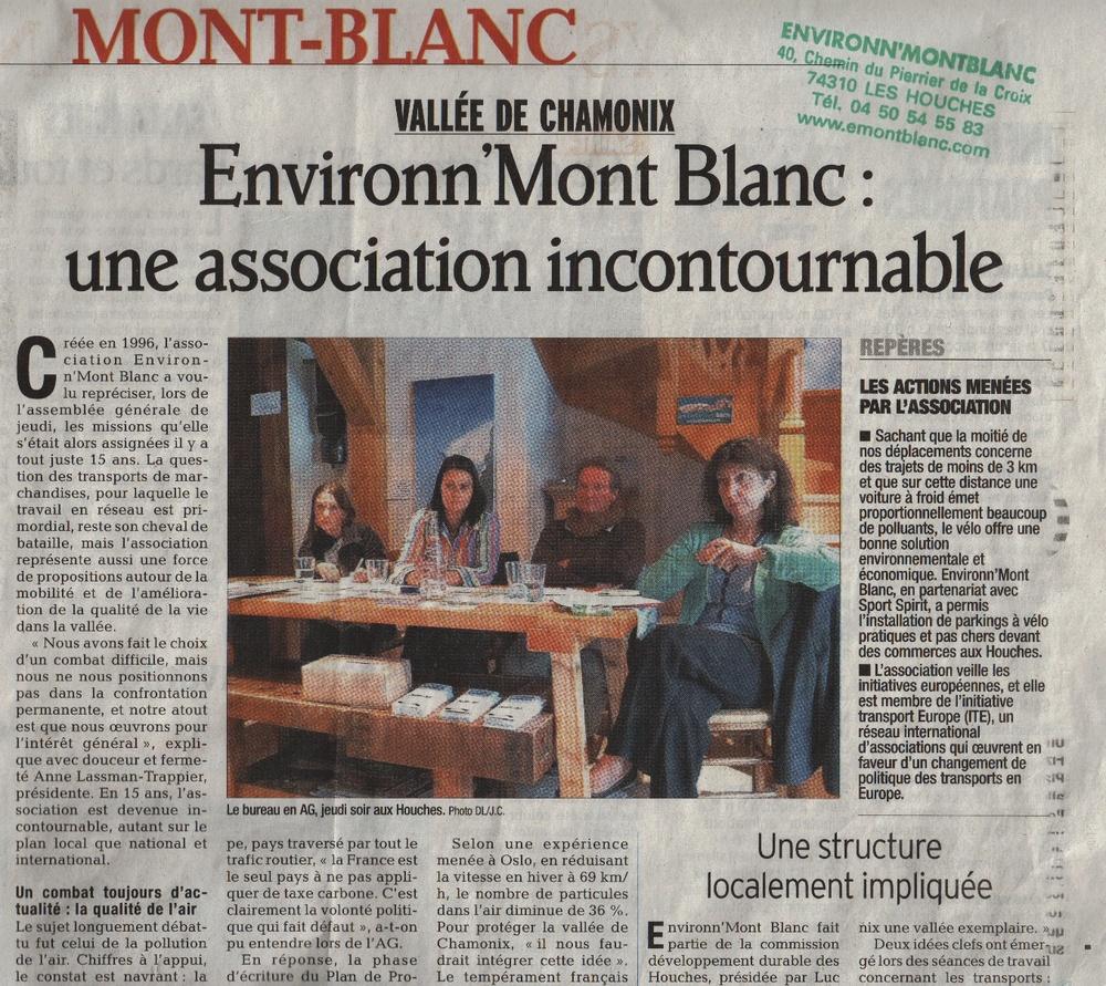 8 août 2011, Environn'MontBlanc fête ses 15 ans