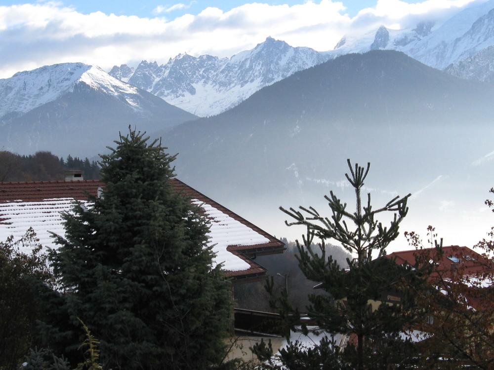 6.12.2013 au dessus de Chedde et vers la vallée de Chamonix