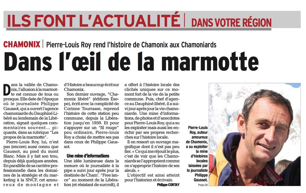 Dauphiné Libéré, 4 juin 2014