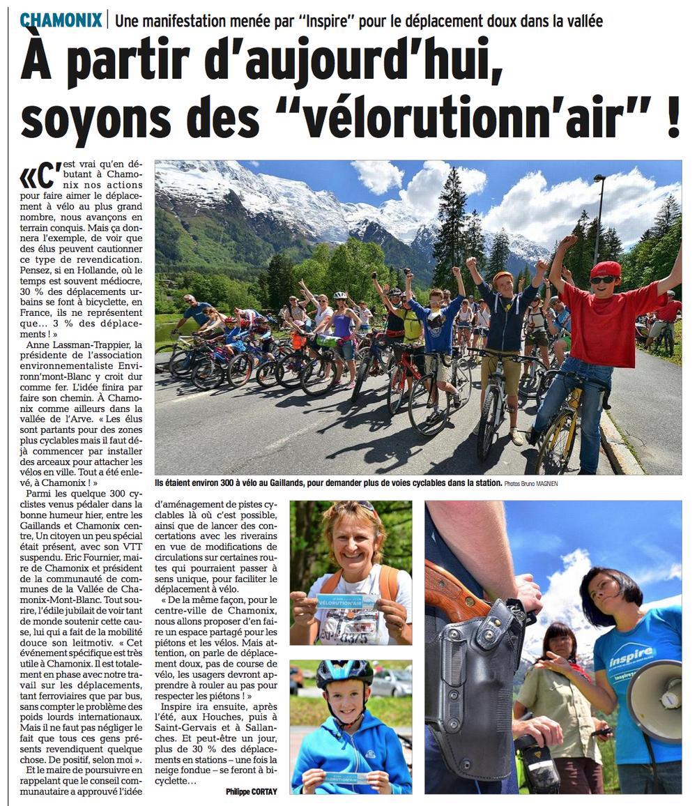 Le Dauphiné Libéré - 25 mai 2014