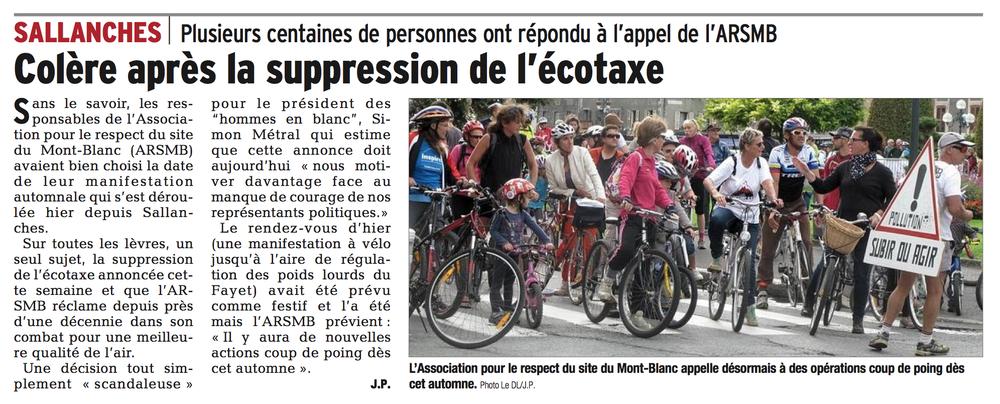 Le Dauphiné Libéré 12.10.2014 page Votre Région