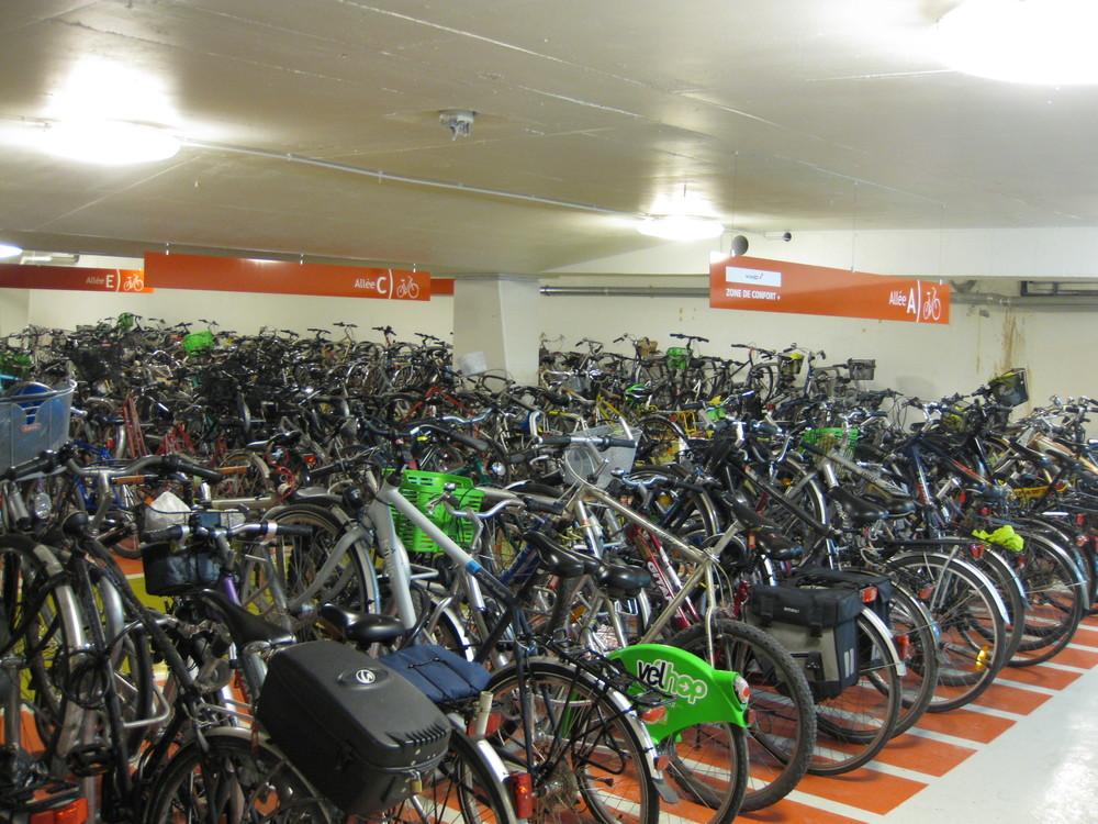 Parking vélo, gare de Strasbourg