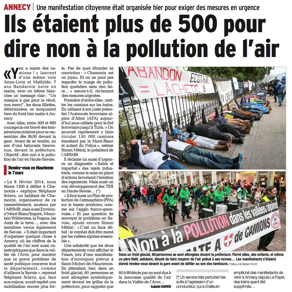 Le Dauphiné Libéré - 8 février 2015