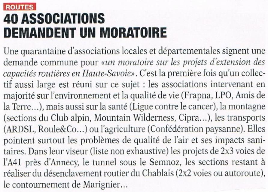 Article Eco de Savoie