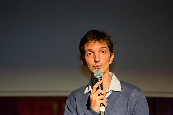 Romain, le présentateur de l'avant-première
