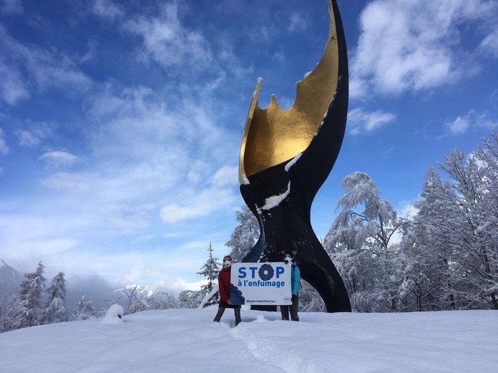 Chamonix - +8% de poids lourds au tunnel du Mont-Blanc en 2017.Les normes européennes dépassées. Des actions vite, la vallée de Chamonix suffoque!#TunnelMontBlanc #LigneFerroviaireExistante #LoiMobilité #StopPollution