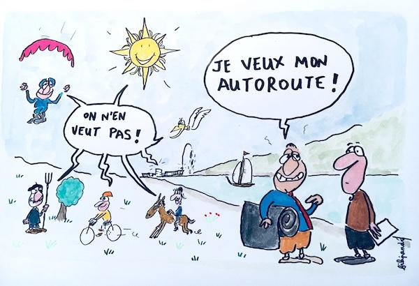 Ils ne veulent pas du projet Machilly-Thonon - La commune de Machilly et la ville de Genève n'en veulent pas. Le monde agricole se mobilise contre le projet : la Confédération Paysanne, les Jeunes Agriculteurs, les Coopératives laitières, ainsi que le Syndicat Interprofessionnel du Reblochon. Les futurs usagers du Léman Express (travaillant à Annemasse ou Genève), les usagers de la RD1005 qui veulent le Bus Express, les personnes sensibles à la pollution de l'air ou à la protection de l'environnent n'en veulent pas non plus. Les 24 associations du Réseau Air 74 rappellent leur demande de moratoire sur tous les projets routiers en Haute-Savoie, afin d'évaluer leur impact sur l'air et le climat et de donner une chance aux solutions de mobilité moins polluantes.