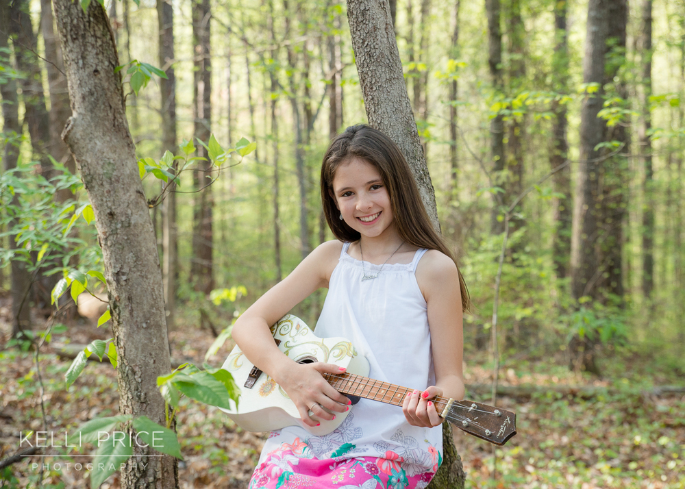 Musical Daughter at Sope Creek, Marietta, Georgia