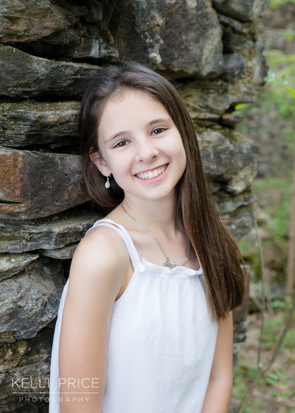Daughter Portrait at Sope Creek, Marietta, Georgia