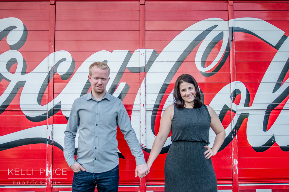 Engagement Session - Capturing the Atlanta Spirit with Coca-Cola