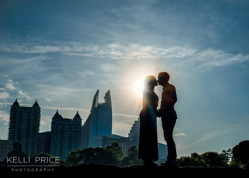 Sunset with Atlanta Skyline at Piedmont Park