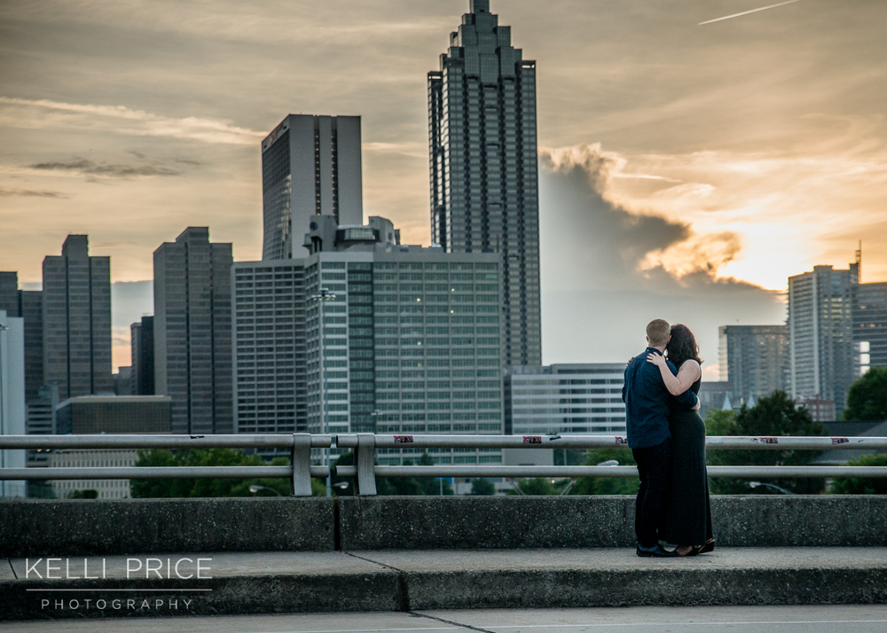 Engagement Session - Sunset on Jackson Street Bridge, Atlanta