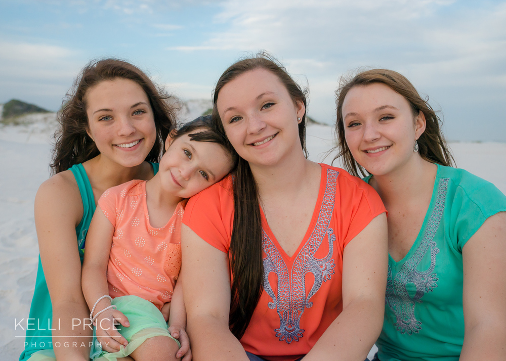 Sisters at Destin Beach