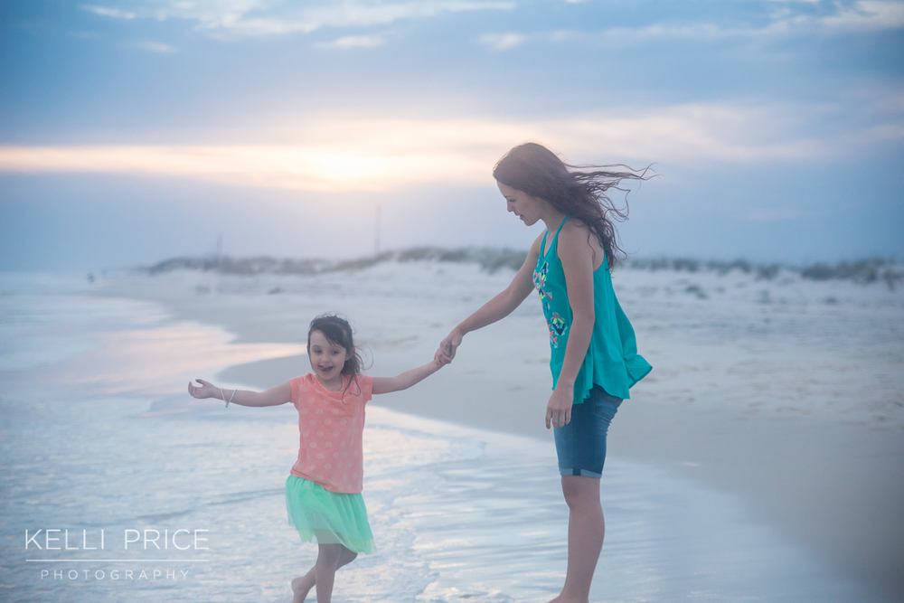 Big & Little Sister on Destin Beach