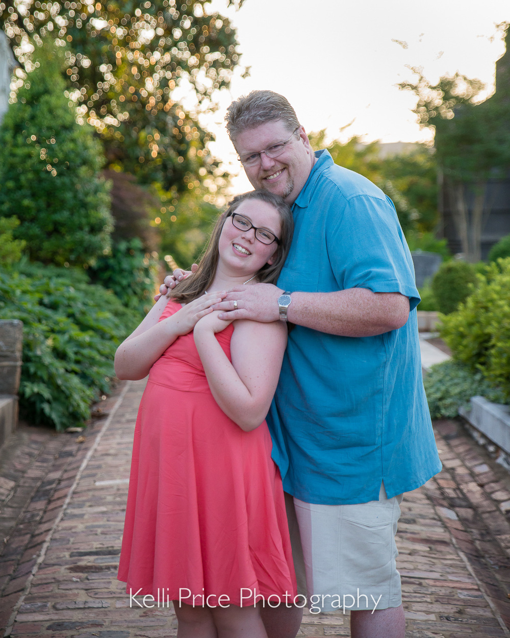 Daddy & Daughter - Atlanta Maternity Photo Session - Historic Oakland Cemetery, GA