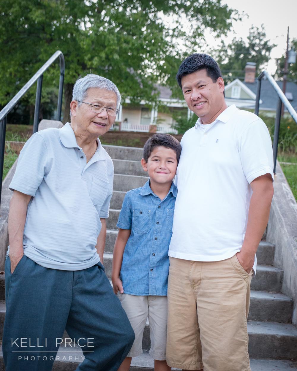 3 Generations of Men, Professional Family Session, Atlanta, GA