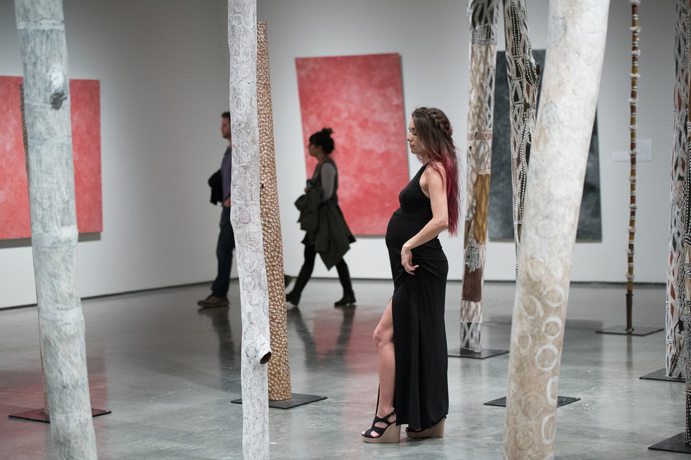 SOOC Behind the scenes shot:  Guests enjoying the art during our shoot.