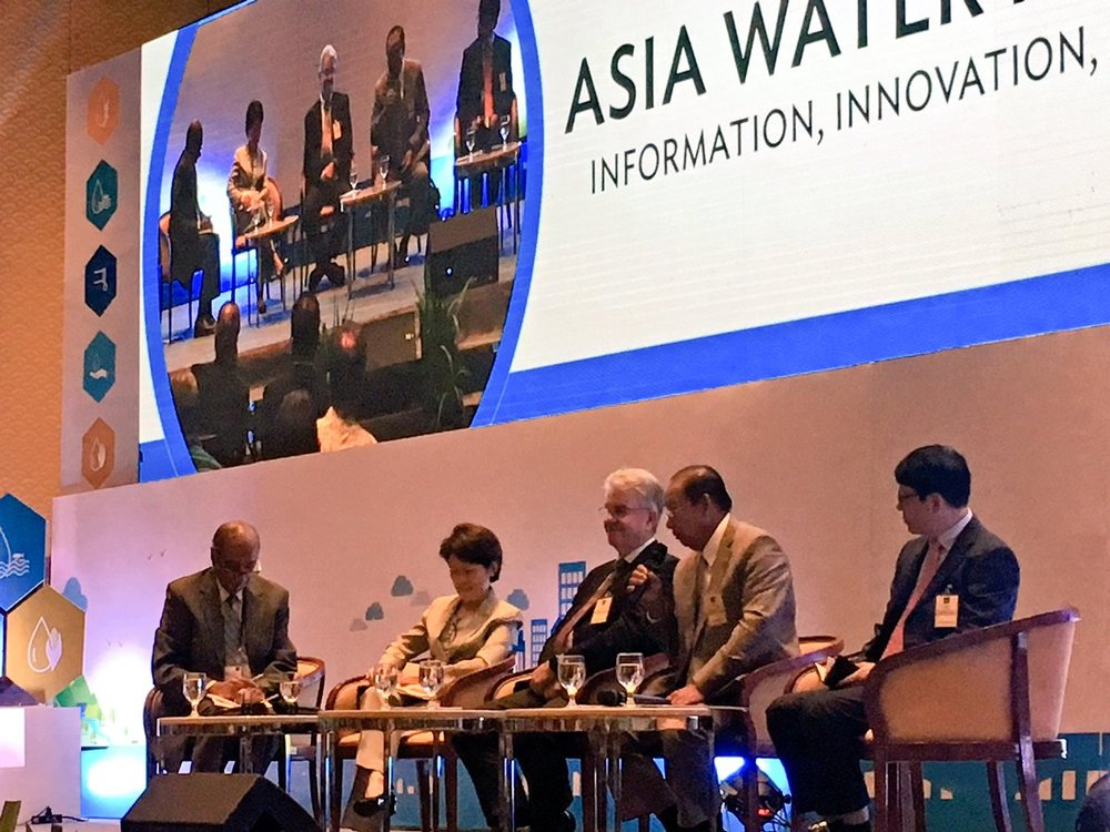 Don Blackmore (center) at the Asia Water Forum 2018