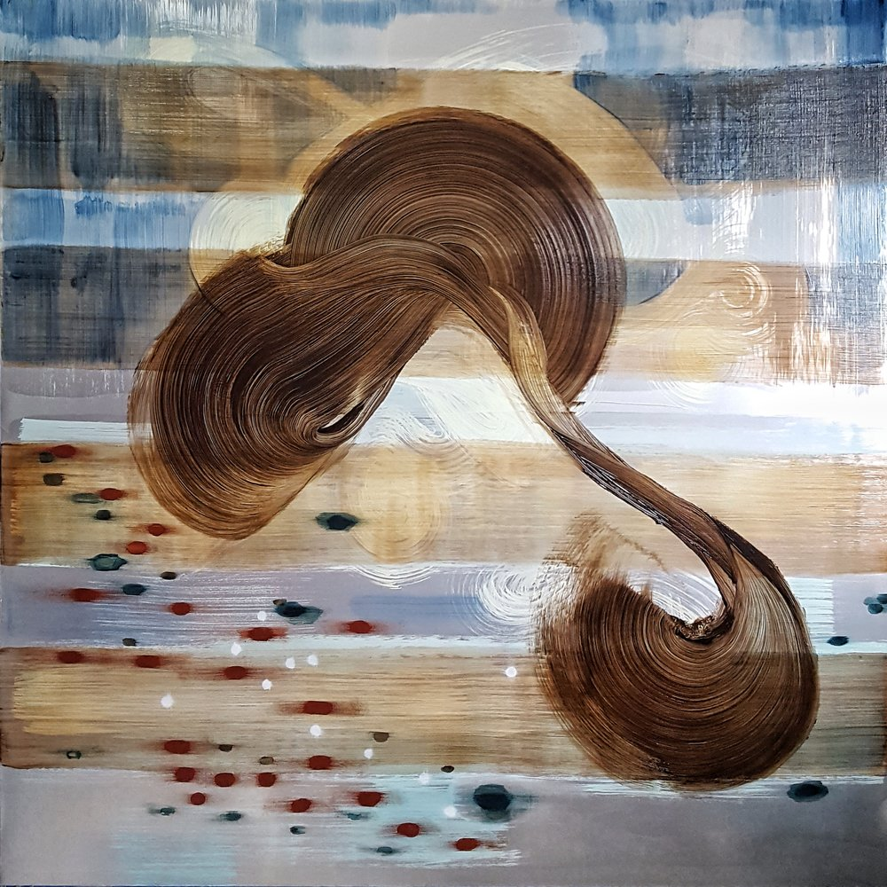 Arc Silver 60x60 inches Acrylic on canvas