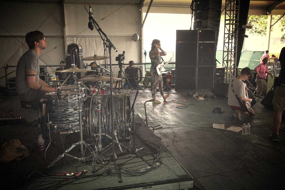Bonnaroo sound check