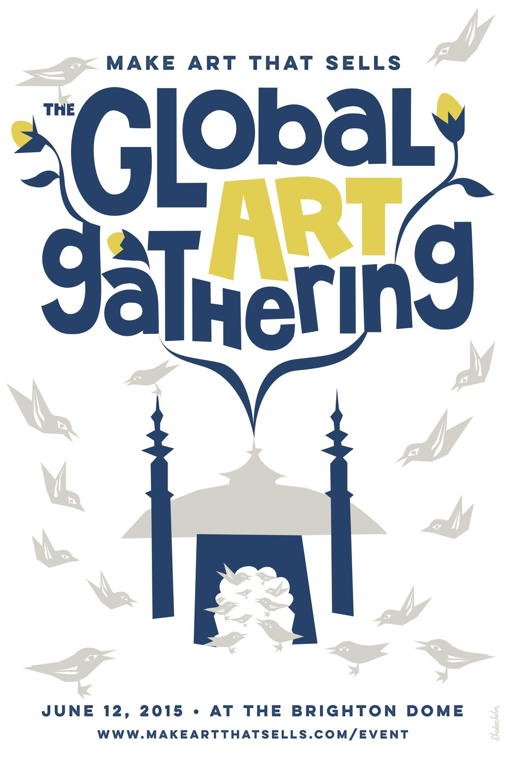 Kendra Shedenhelm Make Art That Sells poster Global Art Gathering