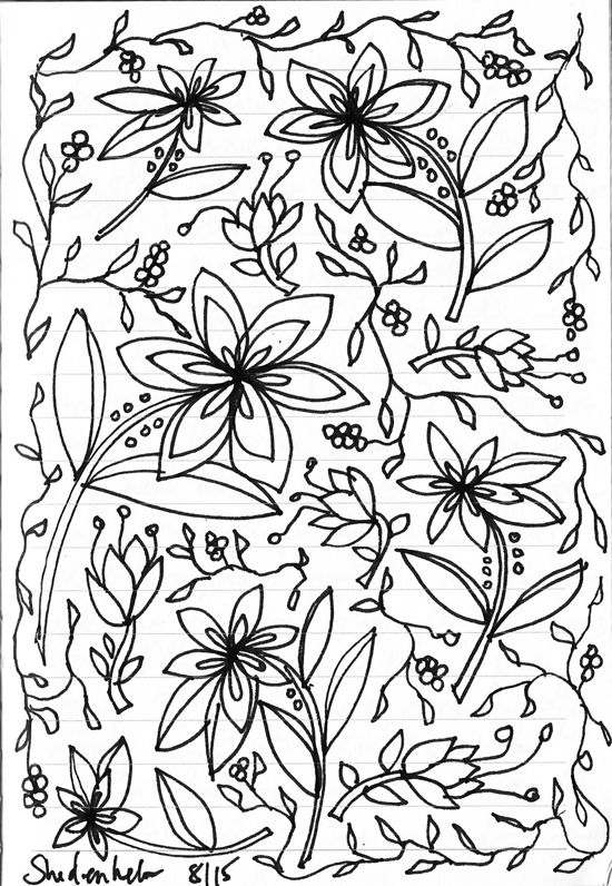 Kendra_Shedenhelm_Drawing_Sketch_Floral_Pattern