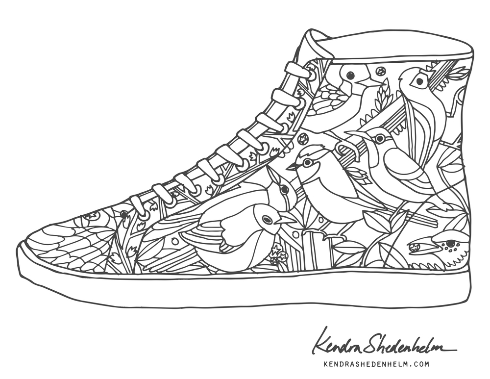 printable tennis shoe coloring pages - photo#22