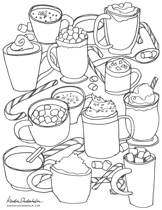 Kendra_Shedenhelm_Hot_Chocolate-Cocoa_Drawing_Free_Coloring_Page