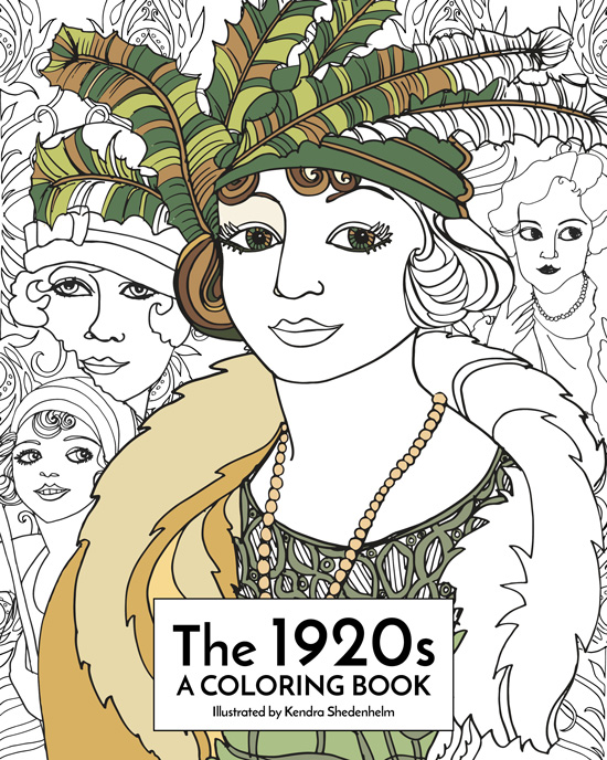 Kendra Shedenhelm, Coloring Book Cover, 1920s