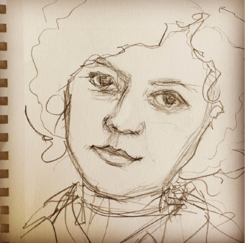 Portrait of Alice Ball, pencil, Copyright 2017 Kendra Shedenhelm