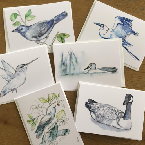 Kendra Shedenhelm_Watercolor Birds_Feed the Birds_Greeting Cards