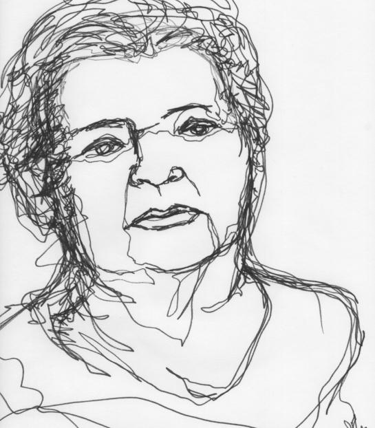 Kendra Shedenhelm_Continuous Line Drawing_Portrait_6