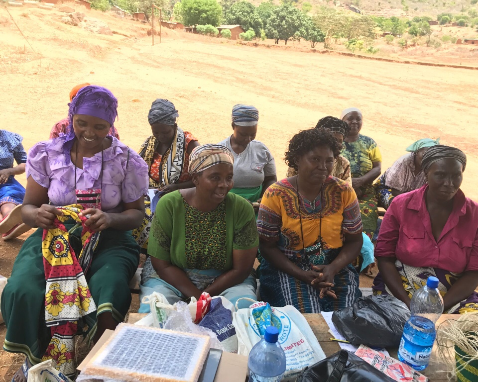 Mshigha women receiving training