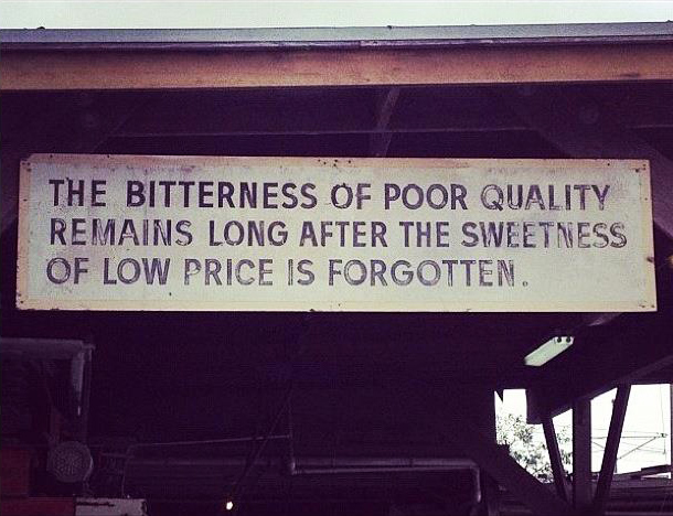 I don't know where this sign hangs, but I have found this to be so very true over the years.