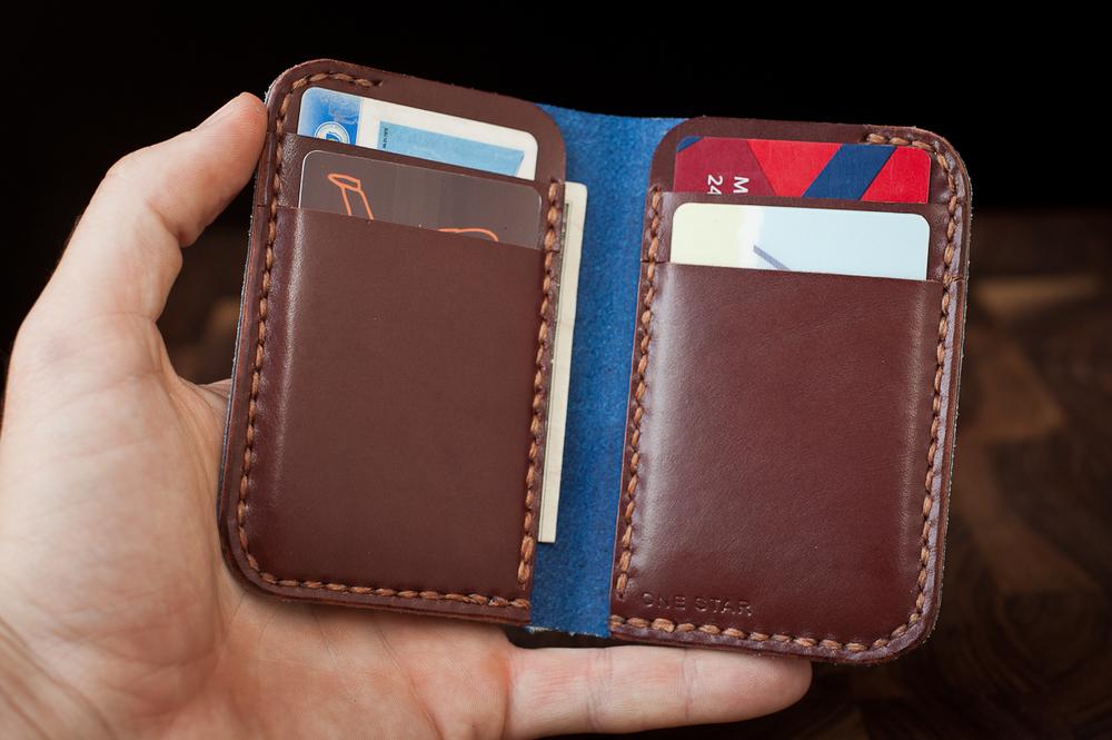 6 pocket vertical wallet