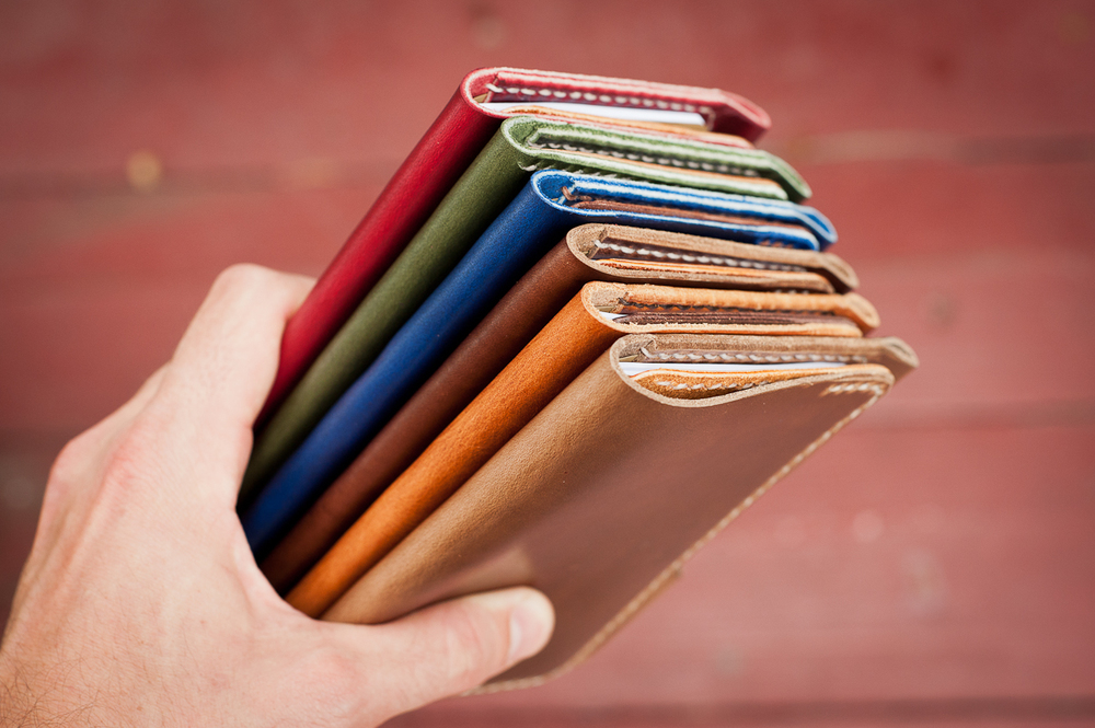 Various shades of Horween's fine leathers.