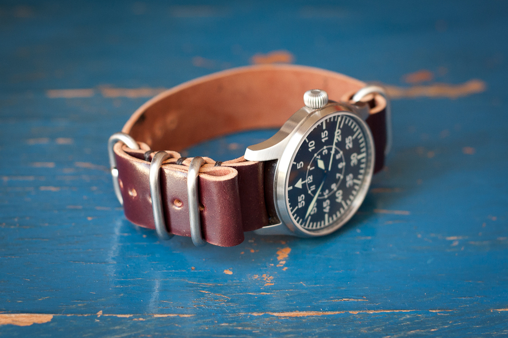 Shell cordovan watchband